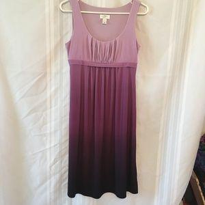 LOFT Ombre High Waist Sleeveless Dress Purple SZ 6